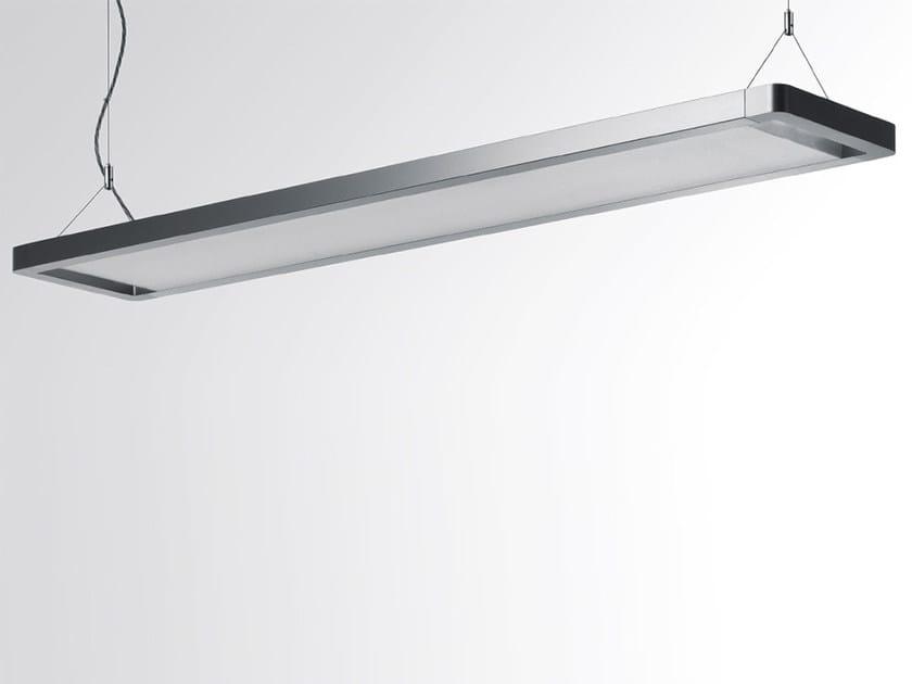 Direct Indirect Light Fluorescent Aluminium Pendant Lamp Esprit