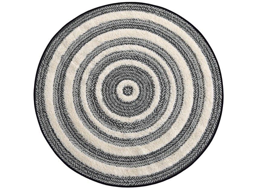 Tappeto rotondo in polipropilene a righe per esterni ESSAOUIRA | Tappeto rotondo by De Dimora