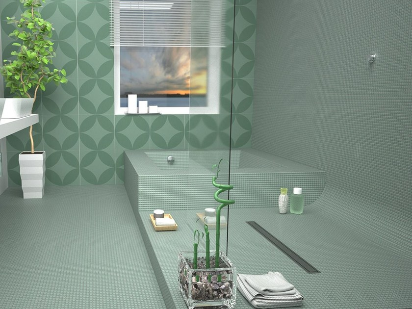 Stainless steel shower channel ESSEFLOW by OMP