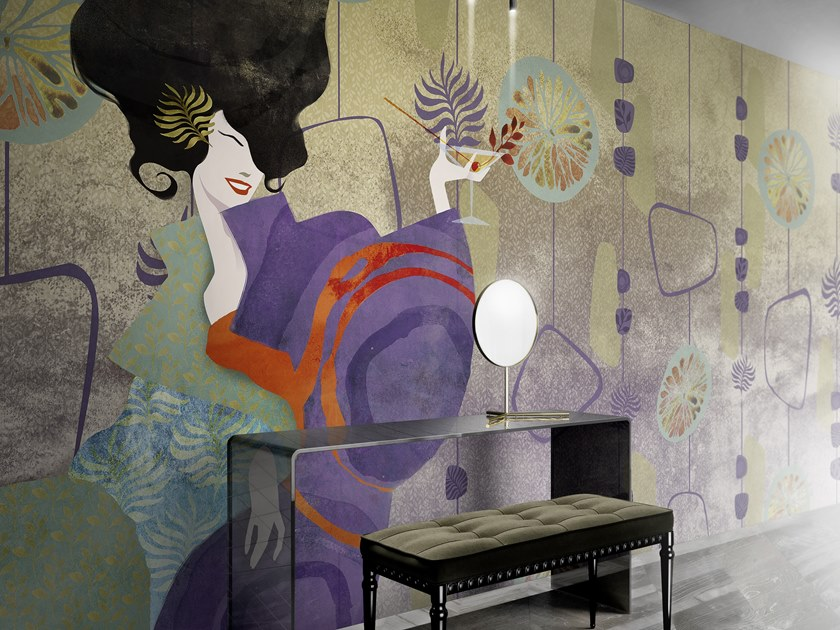 Japanese style panoramic wallpaper ESSENCE by Inkiostro Bianco
