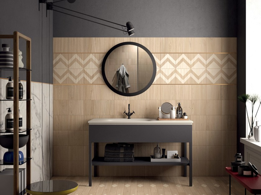 Porcelain stoneware wall/floor tiles with wood effect ESSENCES ELM by Marca Corona