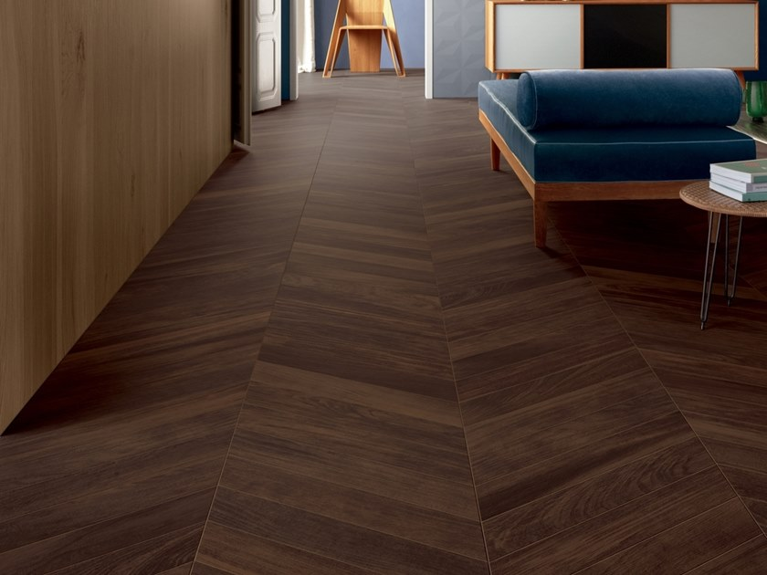 Porcelain stoneware wall/floor tiles with wood effect ESSENCES EXTRA IROKO by Marca Corona