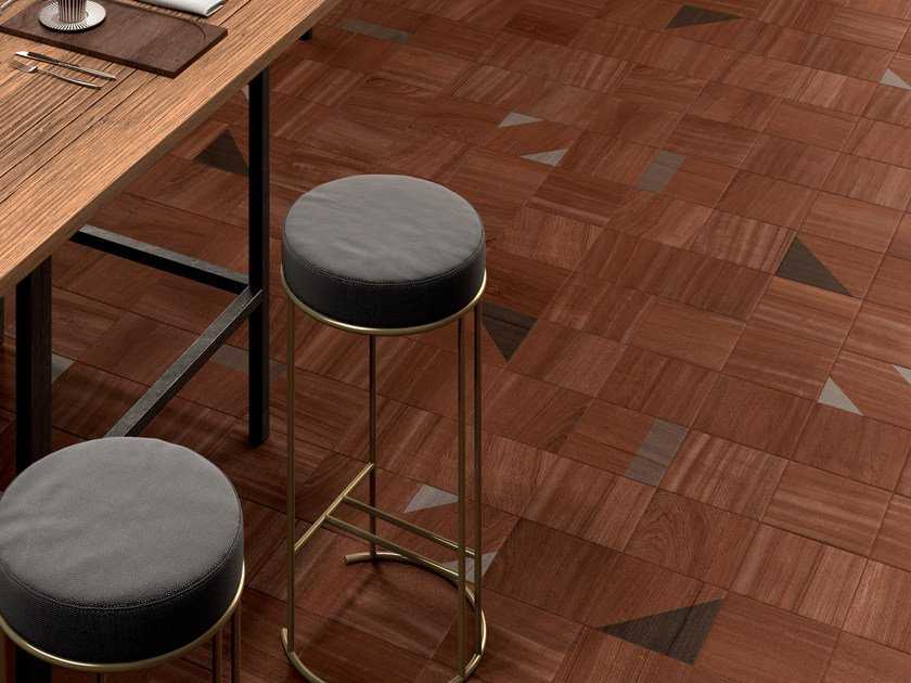 Porcelain Stoneware Wall Floor Tiles With Wood Effect ESSENCES MAHOGANY By Marca Corona