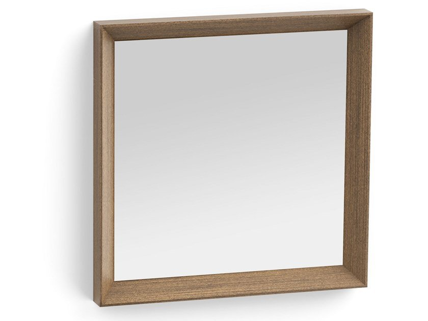 Square framed metal mirror ESSENTIAL | Square mirror by ALBEDO