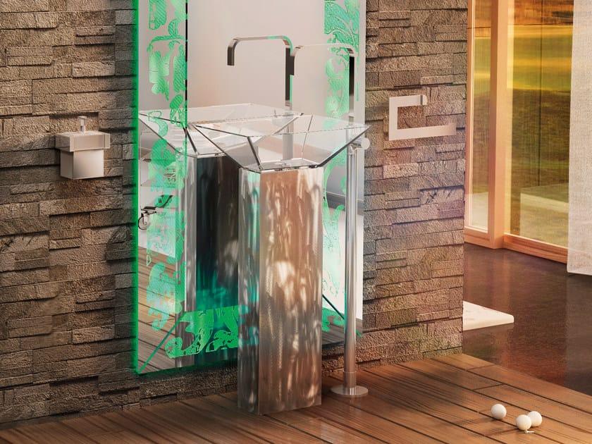 Miscelatore per lavabo da terra in ottone cromato ESSENZA SET ONE | Miscelatore per lavabo by LINEAG