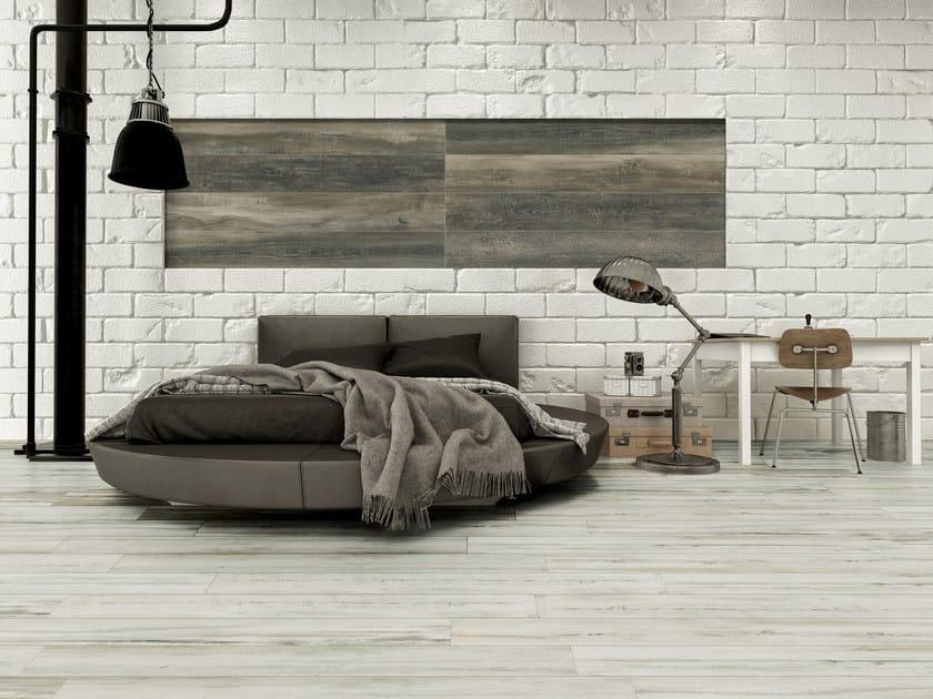 Indoor/outdoor porcelain stoneware flooring with wood effect ESSENZE by Sichenia