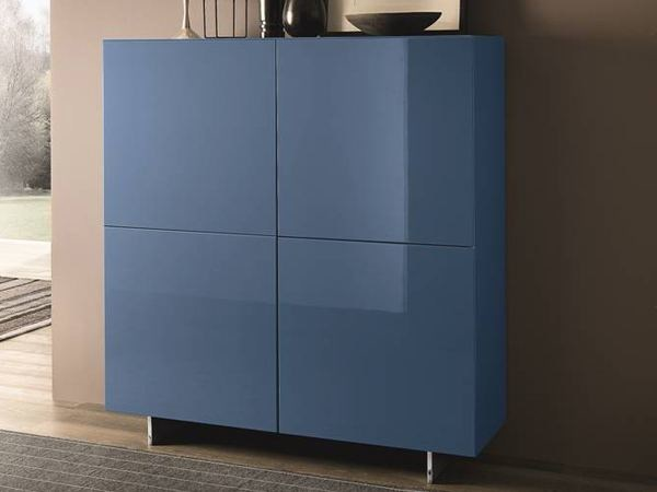 Lacquered highboard with doors ESSENZIA | Highboard by RIFLESSI