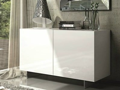 Lacquered sideboard with doors ESSENZIA   Lacquered sideboard by RIFLESSI