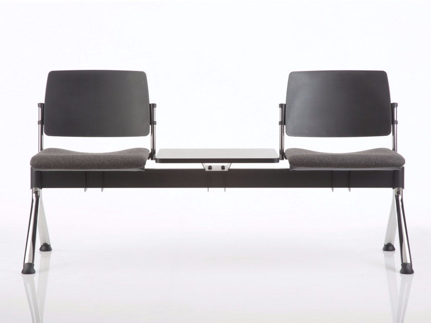 Freestanding polypropylene beam seating ESSENZIALE | Beam seating by Luxy