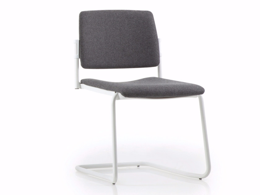 Cantilever upholstered chair ESSENZIALE | Cantilever chair by Luxy