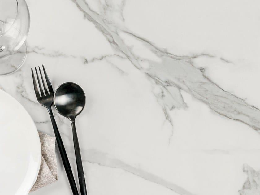 Rivestimento per mobili in ceramica sinterizzata effetto marmo ESTATUARIO by Arklam