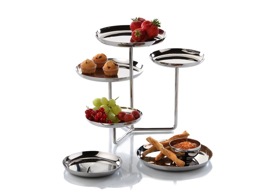 Stainless steel etagere ETAGERE | Tray by Zieher