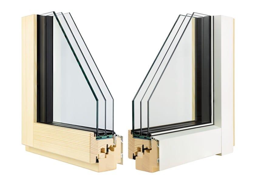 Aluminium and wood triple glazed window ETERNITY CLIMA MINIMAL by Alpilegno
