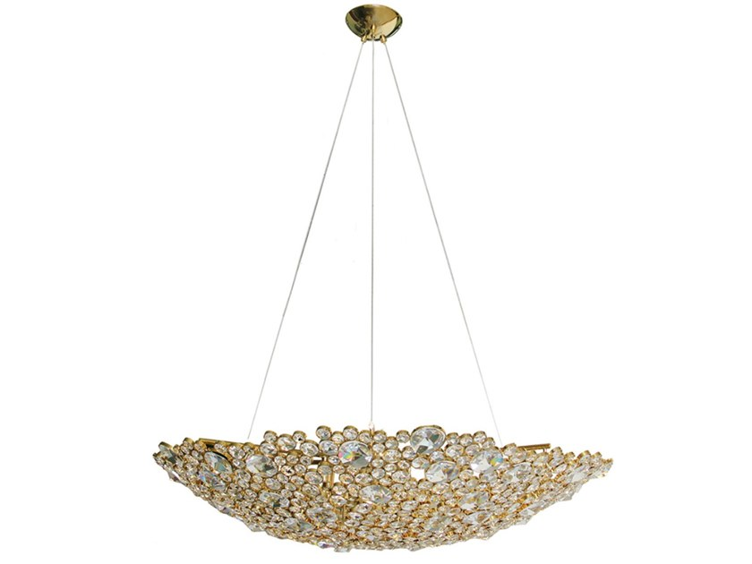 Direct-indirect light brass chandelier ETERNITY II by KOKET