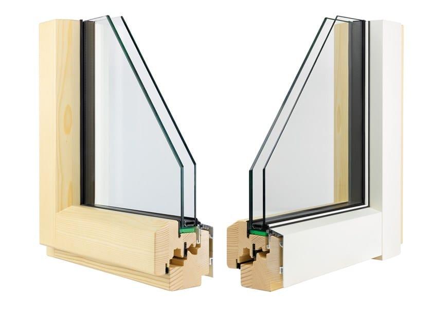 Aluminium and wood double glazed window ETERNITY MINIMAL by Alpilegno