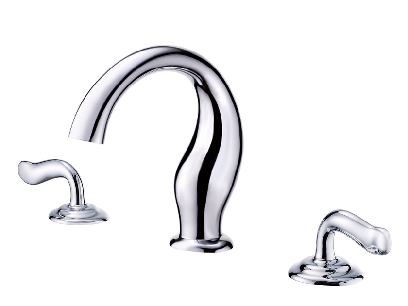 3 hole countertop chromed brass washbasin tap ETHER | Washbasin tap by JUSTIME