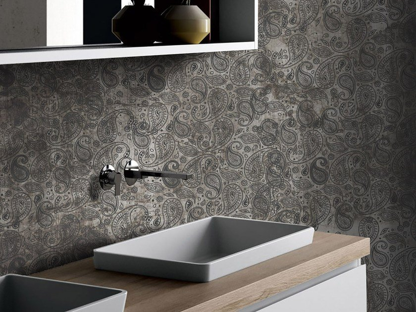 Glass-fibre bathroom wallpaper ETHNIC by Wall LCA