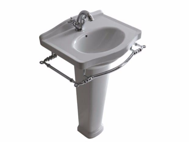 Ceramic washbasin with towel rail ETHOS 55 | Washbasin by GALASSIA
