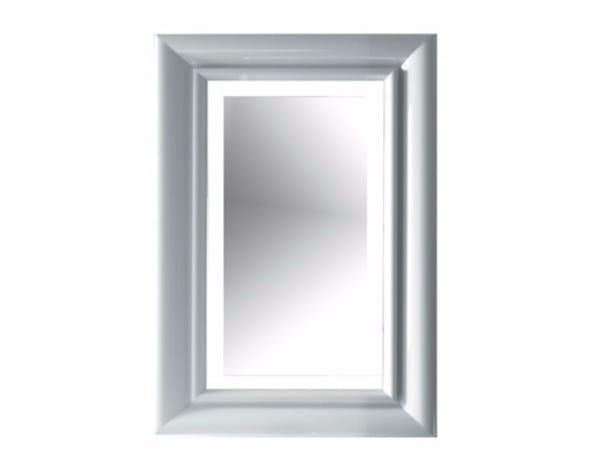Rectangular bathroom mirror with integrated lighting ETHOS 60 | Mirror with integrated lighting by GALASSIA