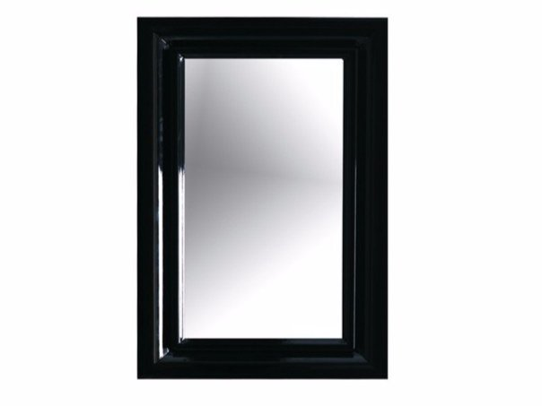 Wall-mounted framed bathroom mirror ETHOS 60 | Mirror by GALASSIA