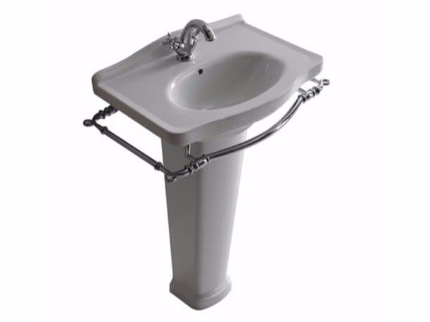 Ceramic washbasin with towel rail ETHOS 65 | Washbasin by GALASSIA