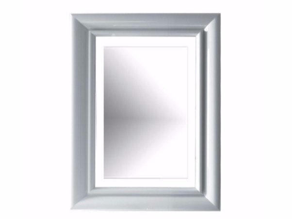 Rectangular bathroom mirror with integrated lighting ETHOS 70 | Mirror with integrated lighting by GALASSIA