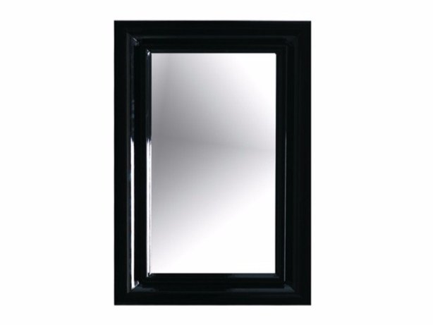 Wall-mounted framed bathroom mirror ETHOS 70 | Mirror by GALASSIA