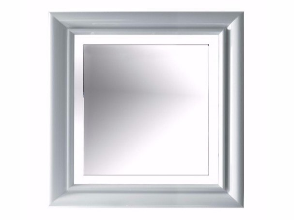 Square bathroom mirror with integrated lighting ETHOS 90 | Mirror with integrated lighting by GALASSIA