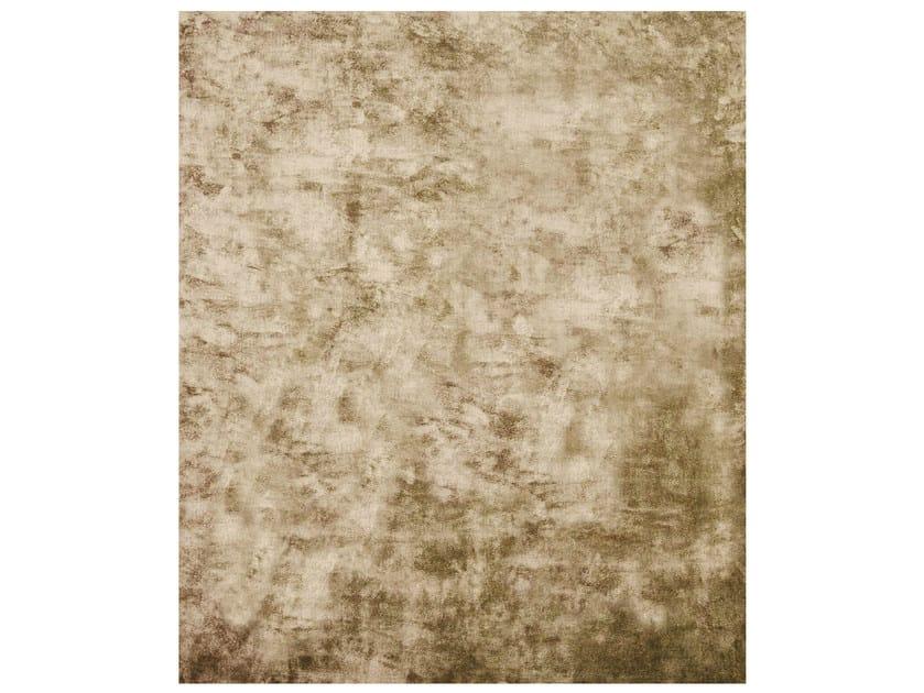 Handmade rectangular rug ETHYLENE GOLD by HENZEL STUDIO