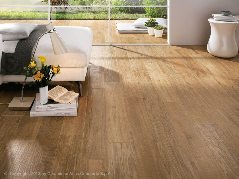 Etic Porcelain Stoneware Flooring Etic Collection By Atlas Concorde - Ebano-furniture-bathroom-with-wood-effect
