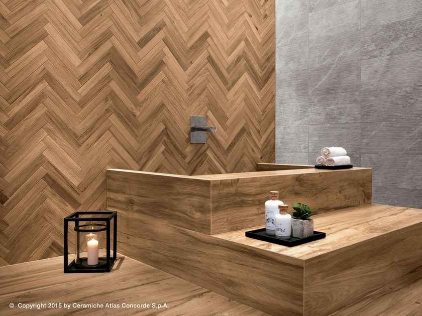 Porcelain stoneware wall tiles with wood effect ETIC PRO   Porcelain stoneware wall tiles by Atlas Concorde