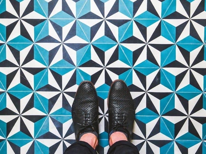 Cement wall/floor tiles ÉTOILE 1 by BEAUREGARD