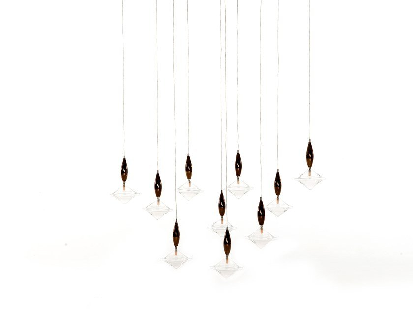 Glass pendant lamp ETOILE by Tonin Casa