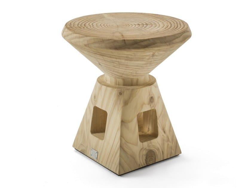 Cedarwood stool ETRURIO by Riva 1920