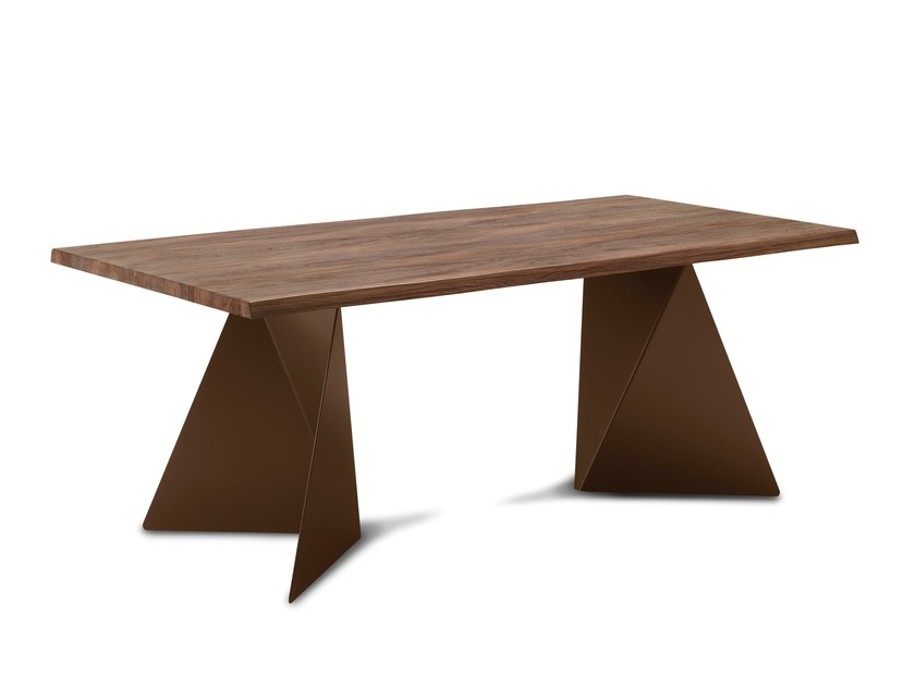 Rectangular wooden table EUCLIDE-F by DOMITALIA