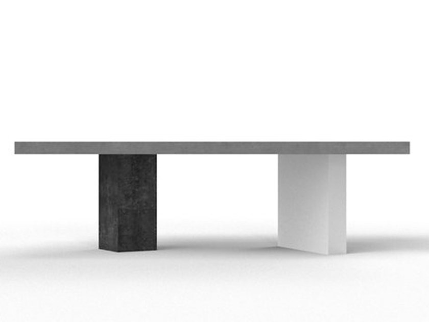 Rectangular cement table EUCLIDE by Forma&Cemento