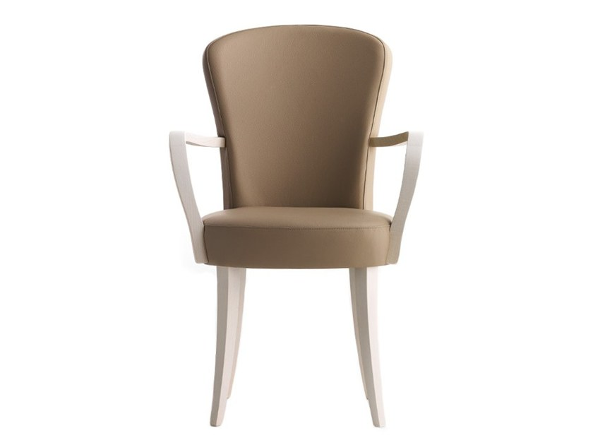 Upholstered chair with armrests EUFORIA 00121 by Montbel