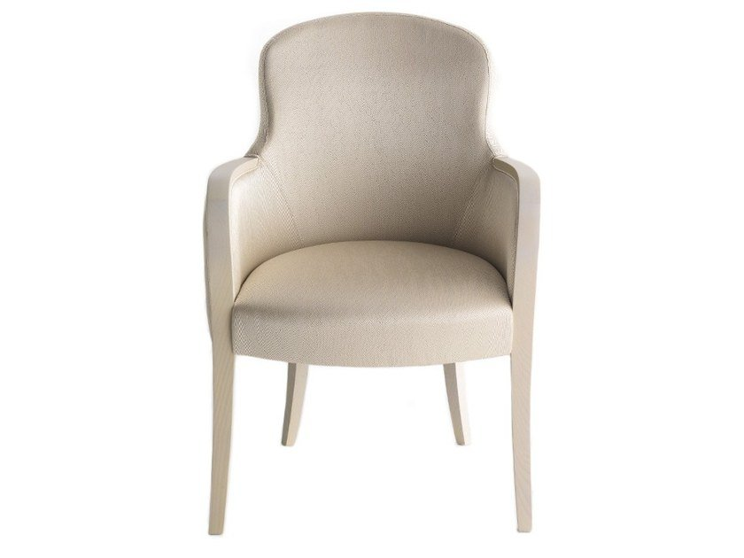 Upholstered chair with armrests EUFORIA 00132 by Montbel