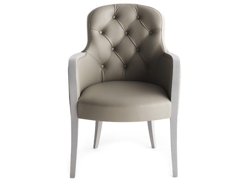 Tufted upholstered chair with armrests EUFORIA 00132K by Montbel
