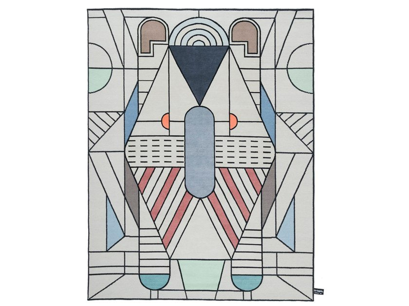 Rectangular Rug With Geometric Shapes Esagono By Calligaris Design