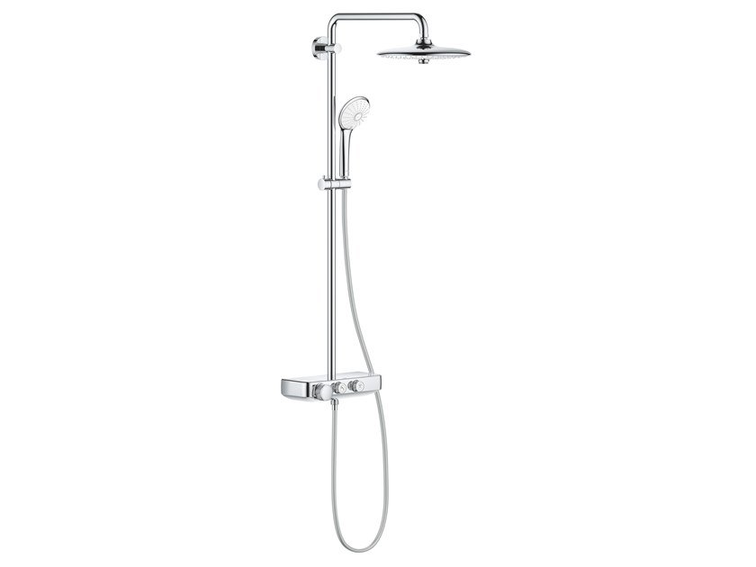 Wall-mounted thermostatic shower panel EUPHORIA SMARTCONTROL 26509000 | Shower panel by Grohe