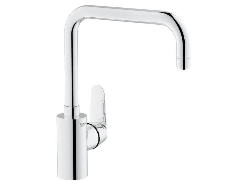 Countertop 1 hole kitchen mixer tap with flow limiter EURODISC COSMOPOLITAN | Kitchen mixer tap with swivel spout by Grohe