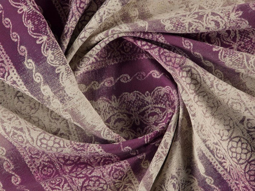 Jacquard washable polyester fabric with graphic pattern EUROPA by More Fabrics