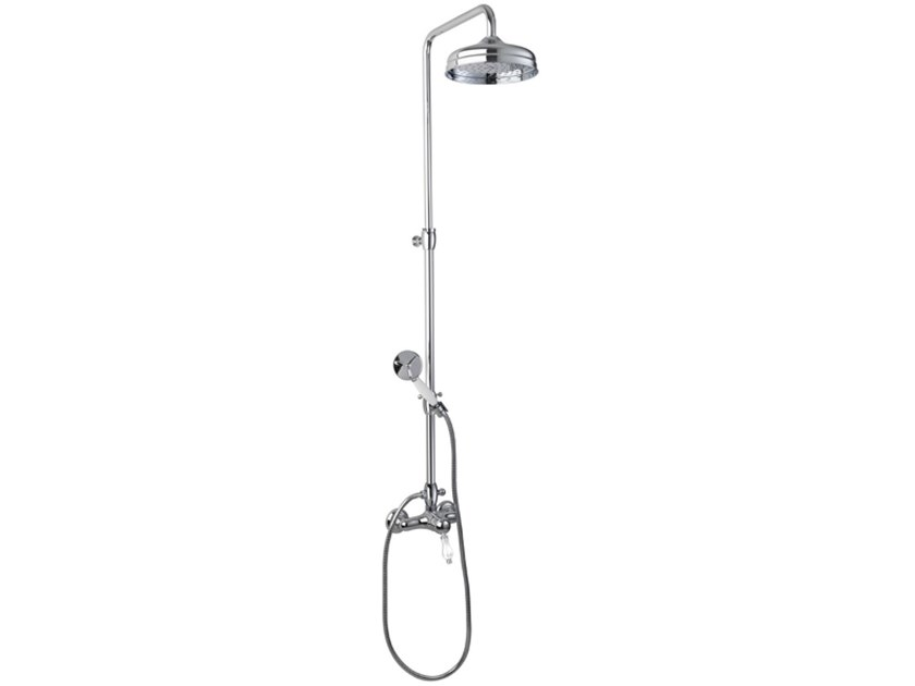 Wall-mounted shower panel with hand shower EUROPA   Shower panel by BIANCHI RUBINETTERIE