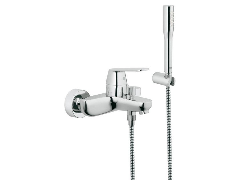 Single handle bathtub/shower mixer with diverter EUROSMART COSMOPOLITAN | Bathtub mixer with hand shower by Grohe