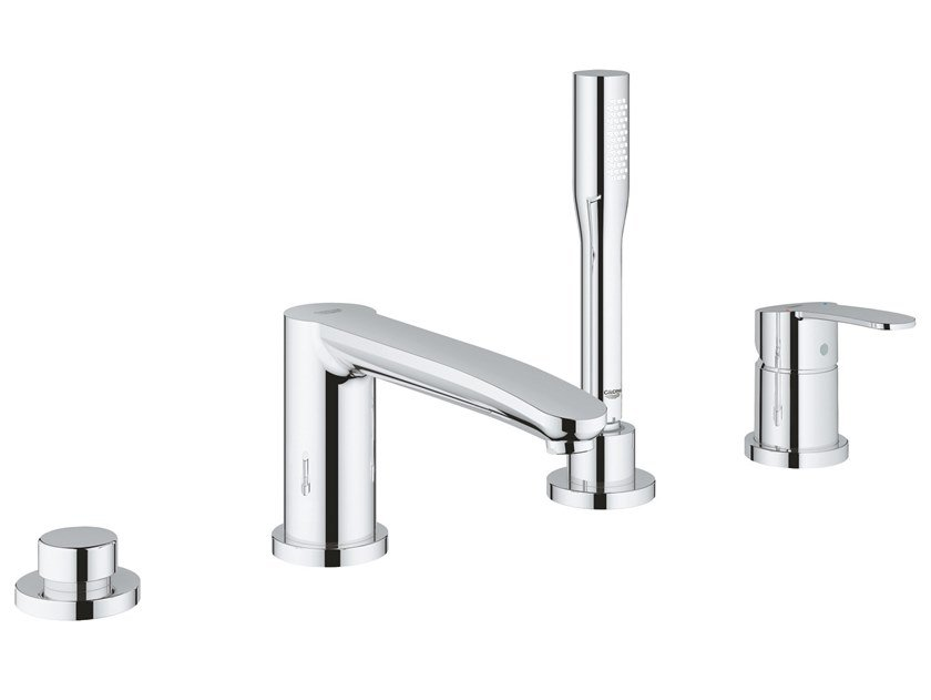 4 hole bathtub set with hand shower EUROSTYLE COSMOPOLITAN 23048003 | Bathtub set by Grohe