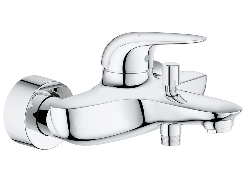 Wall-mounted single handle bathtub/shower mixer EUROSTYLE NEW | 2 hole bathtub mixer by Grohe
