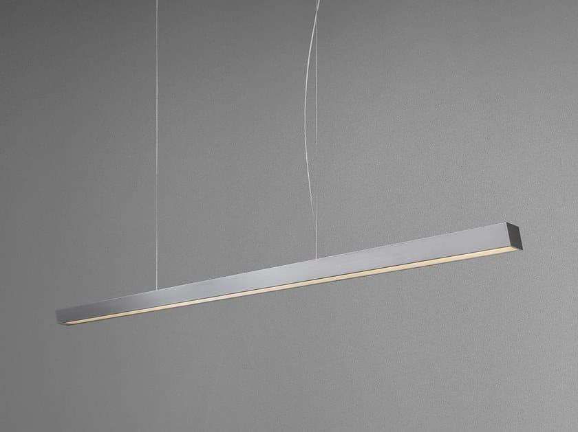Aluminium pendant lamp with dimmer EUSTRESS by Quadrifoglio