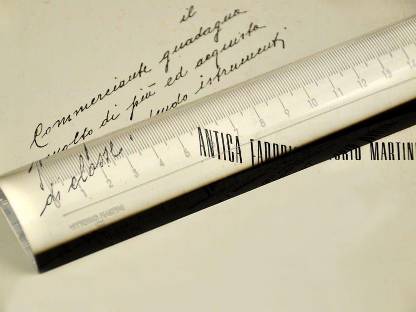 Magnifying glass/ruler in perspex EV LENTISSIMA by VITTORIO MARTINI