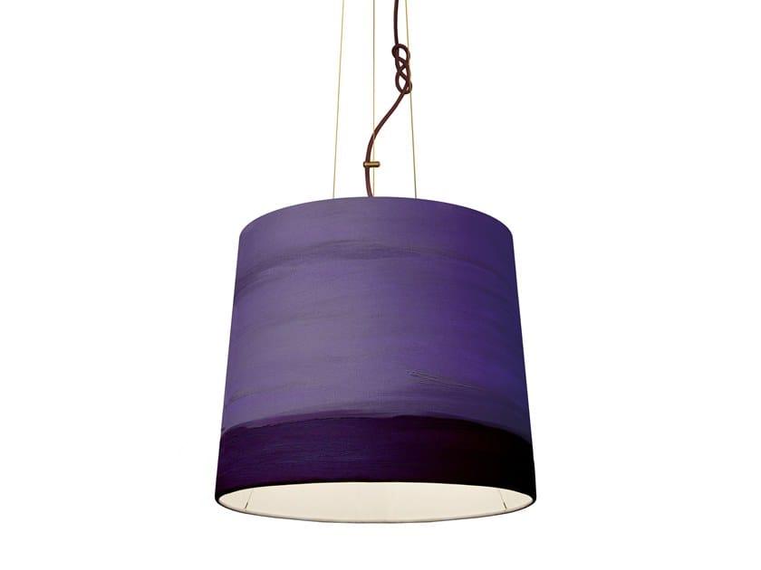 Handmade fabric pendant lamp EVENING | Pendant lamp by Mammalampa
